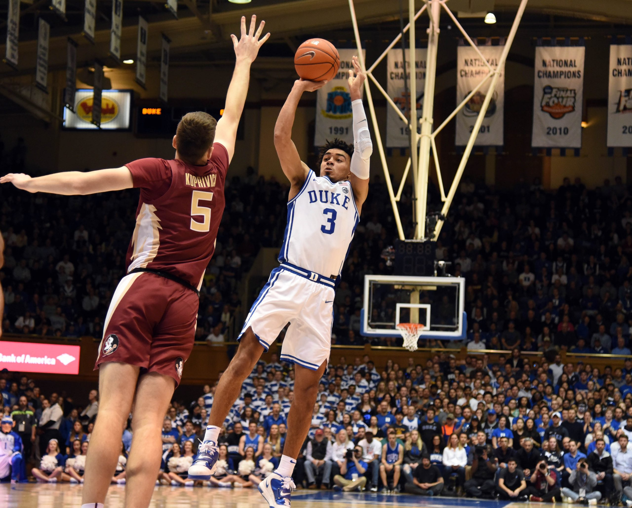 NCAA Basketball: Florida State at Duke